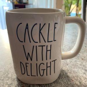 Rae Dunn Halloween Cackle With Delight Mug